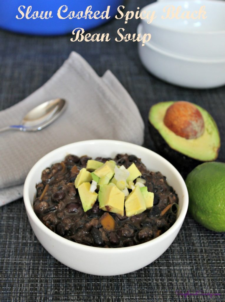 Spciy Slow Cooked Black Bean Soup - Simple And Savory