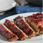 Home-style turkey meatloaf sliced on a plate