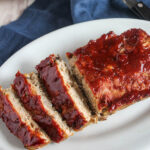 Turkey meatloaf on a plate