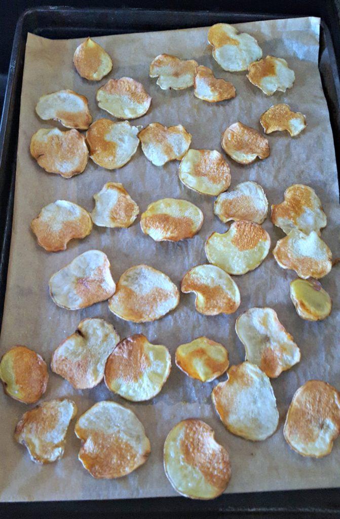 Veggie nachos cooked potatoes