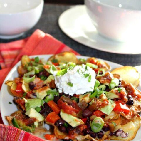 Veggie Potato Nachos