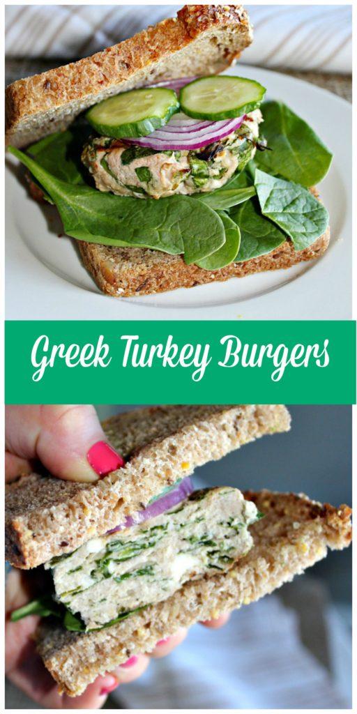 Greek Turkey Burgers Simple and Savory.com