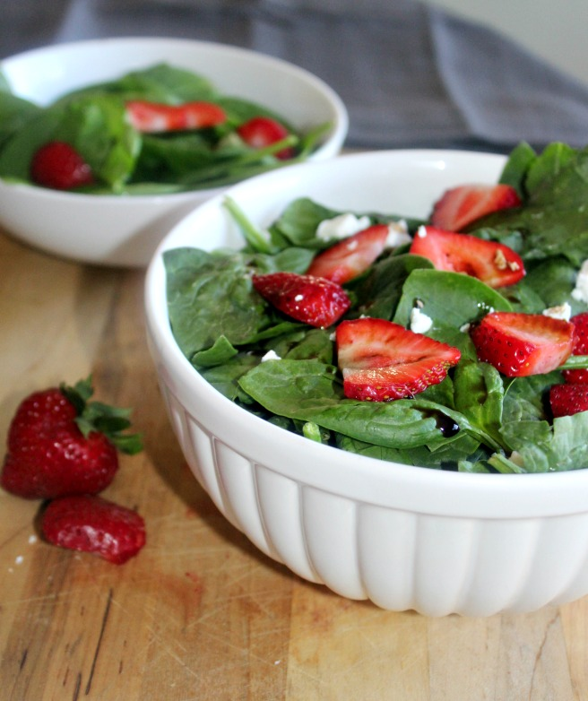 Spinach and Strawberry Salad Simple and Savory.com