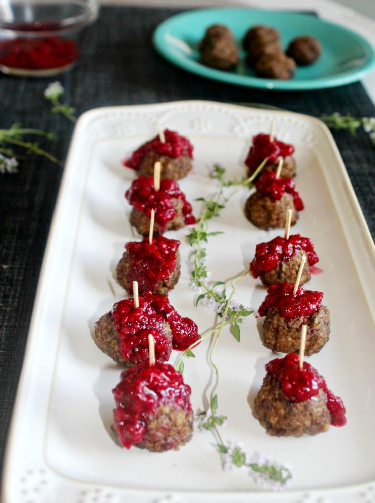 Walnut and Mushroom Meatless meatballs Simple and Savory.com