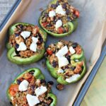 Vegetarian Stuffed Peppers made with quinoa and beans