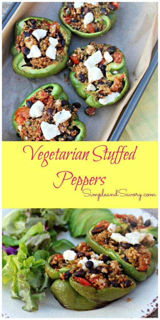 Vegetarian Stuffed peppers Simple and Savory.com
