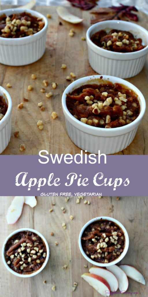 swedish apple pie cups gluten-free vegetarian simpleandsavory.com