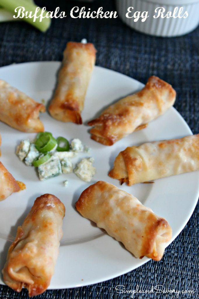 Buffalo Chicken Egg Rolls Simple And Savory