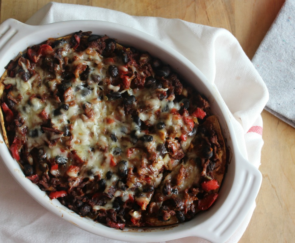 Mexican Chicken and Black Bean Casserole #SundaySupper - Simple And ...