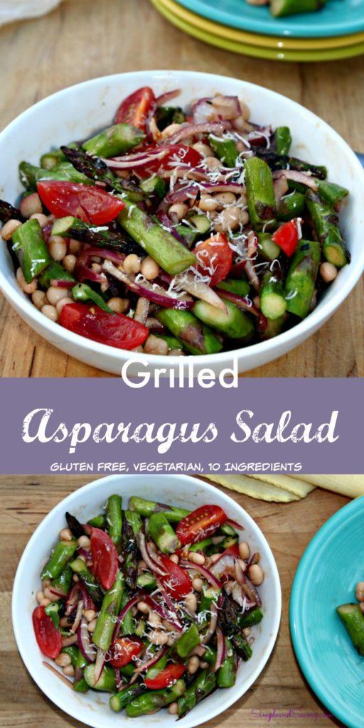 Grilled Asparagus Salad gluten free, vegetarian, 10 ingredients simpleandsavory.com