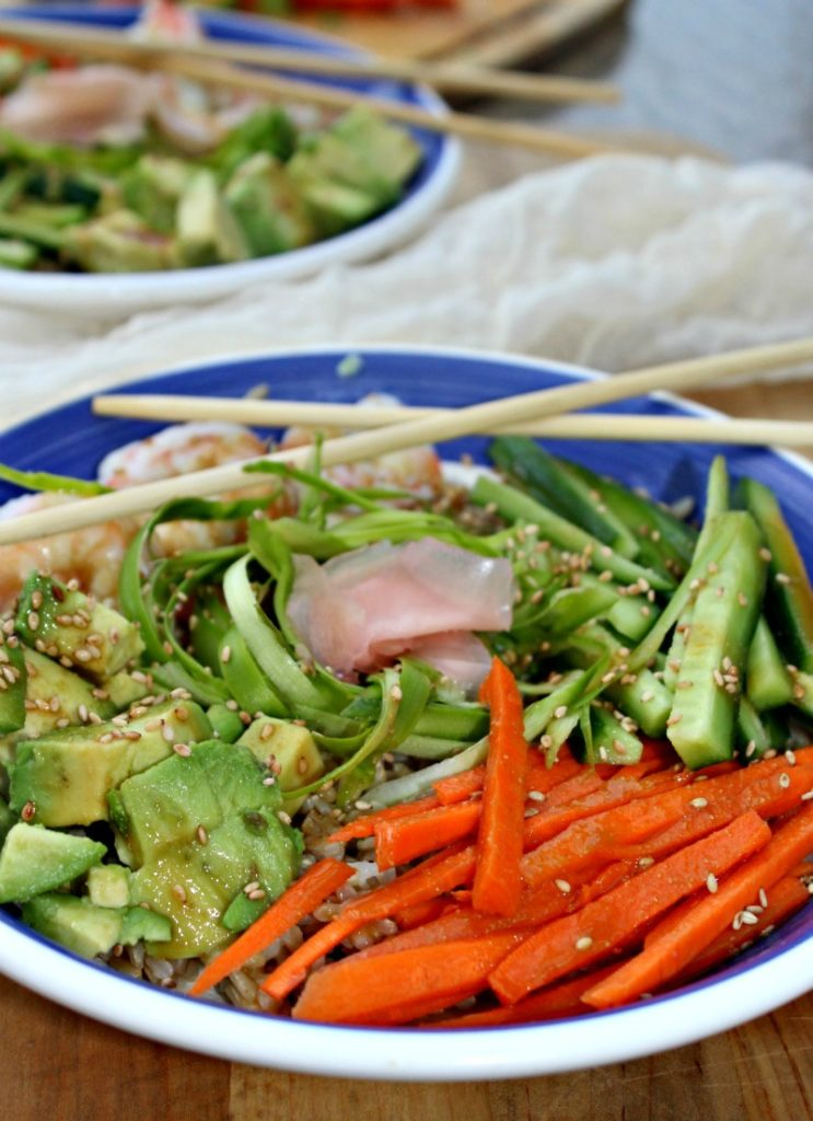 Sushi Bowls less than 10 ingredients gluten free simple and savory