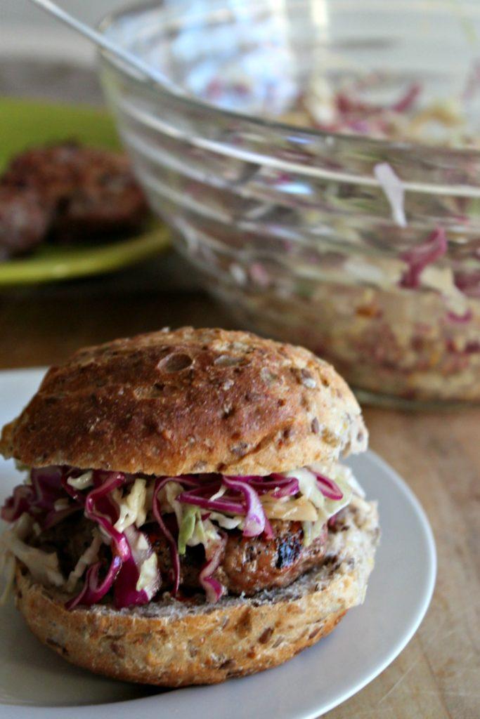 how to serve pork burgers