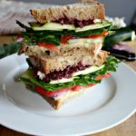 mediterranean Veggie Sandwich vegetarian simpleandsavory.com