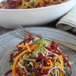 Veggie Noodle salad on a plate