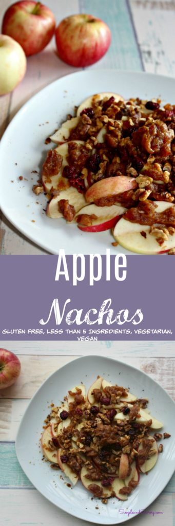 Apple Nachos, gluten free, vegetarian vegan simpleandsavory.com