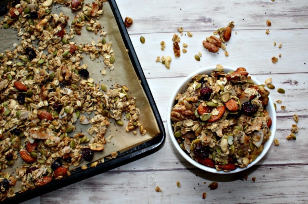 Easy healthy homemade granola simple and savory
