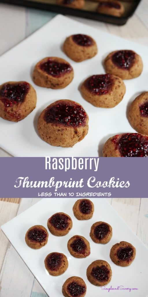 Raspberry Thumbprint Cookies - Simple And Savory