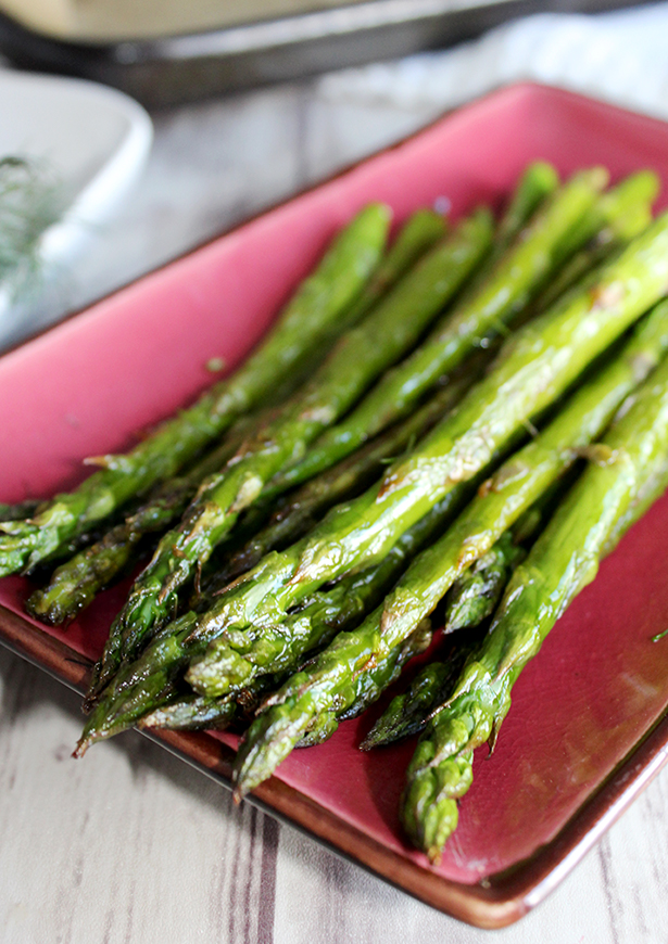 Roasted Asparagus with Miso Garlic Butter - Simple And Savory