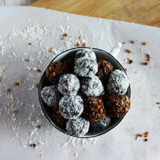 Chocolate burbon balls are gluten free vegetarian and naturally sweet Simple And Savory