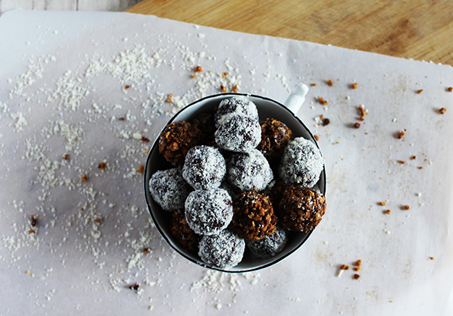 Chocolate bourbon balls are made healthy with natural sweeteners Simple and Savory