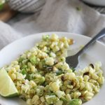 grilled Mexican Street Corn Salad on a plate