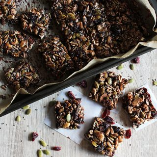 chocolate nutty energy bars gluten free simple and savory.com