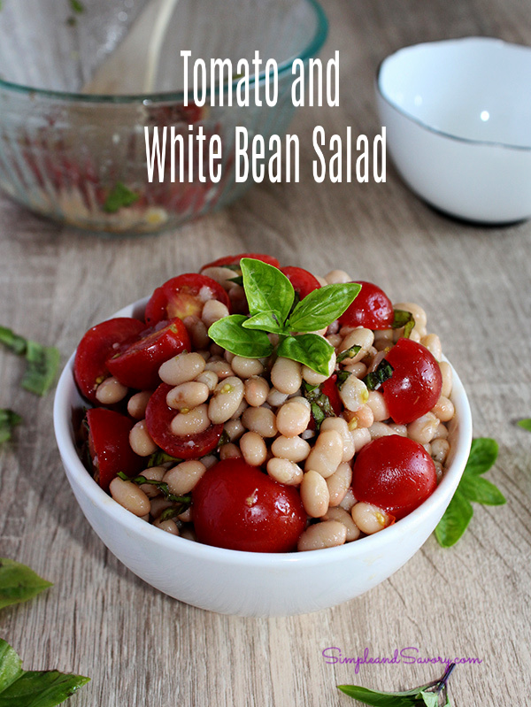 tomato and white bean salad simple and savory