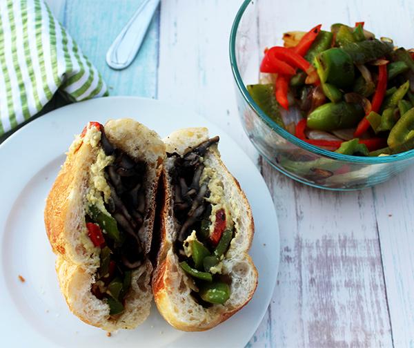 Portobello Mushroom Cheesesteak Sandwich Simple And Savory
