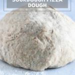 Whole wheat sourdough pizza dough ball