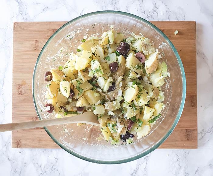 potato salad mixed up