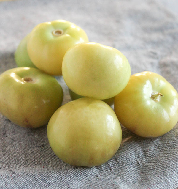 tomatillos that have been peeled
