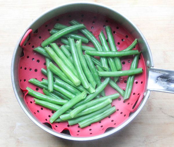 Green beans in a pot