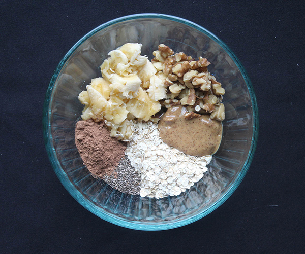 All of the ingredients in a bowl unmixed