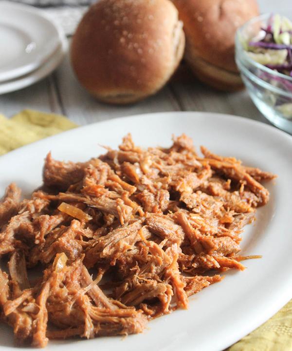 bbq pork on a platter