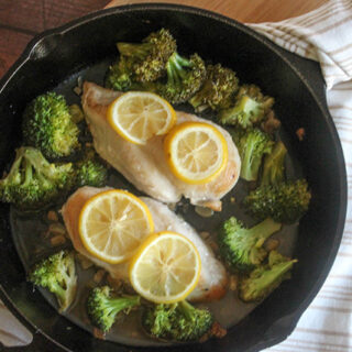 One Pan Lemon Chicken with Broccoli