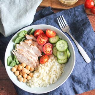 Mediterranean Cauliflower Rice Bowl