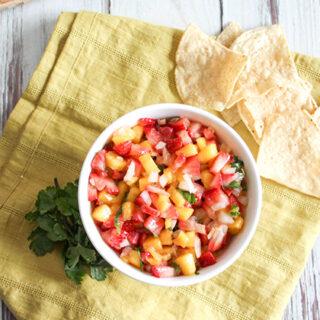 Spicy Mango Salsa with Strawberries
