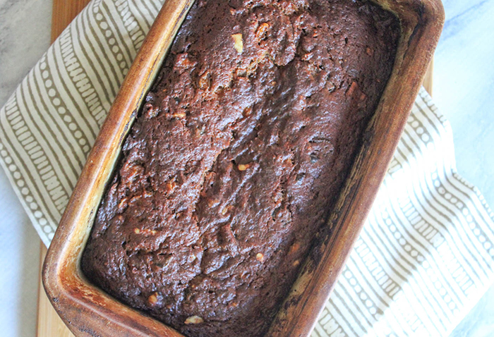 the baked loaf of persimmon bread