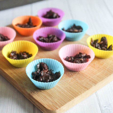 almond nuggets in silicone cups