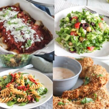 a collate of dinner ideas